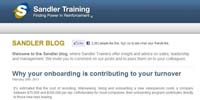 Sandler Training corporate blog