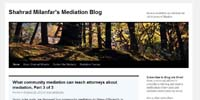 Shahrad Milanfar's Mediation Blog