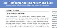 The performance Improvement Blog